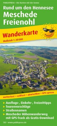 Wandelkaart 787 Rund um den Hennesee - Meschede - Freienohl | Publicpress