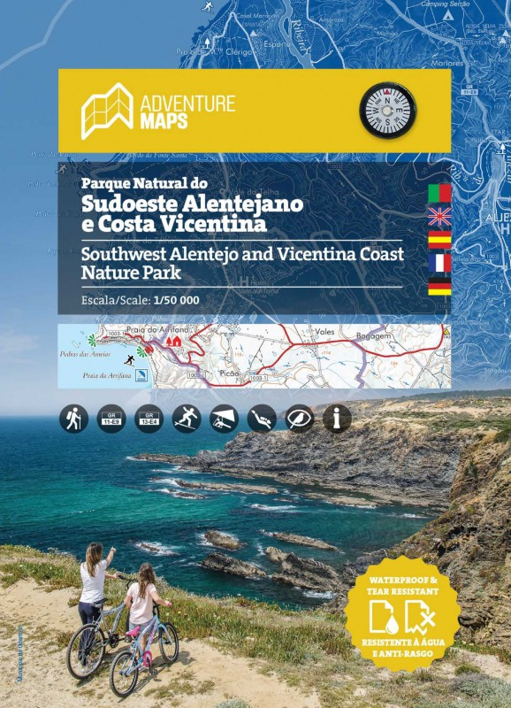 Wandelkaart Parque Natural do Sudoeste Alentejano e Costa Vicentina | Adventure MAPS