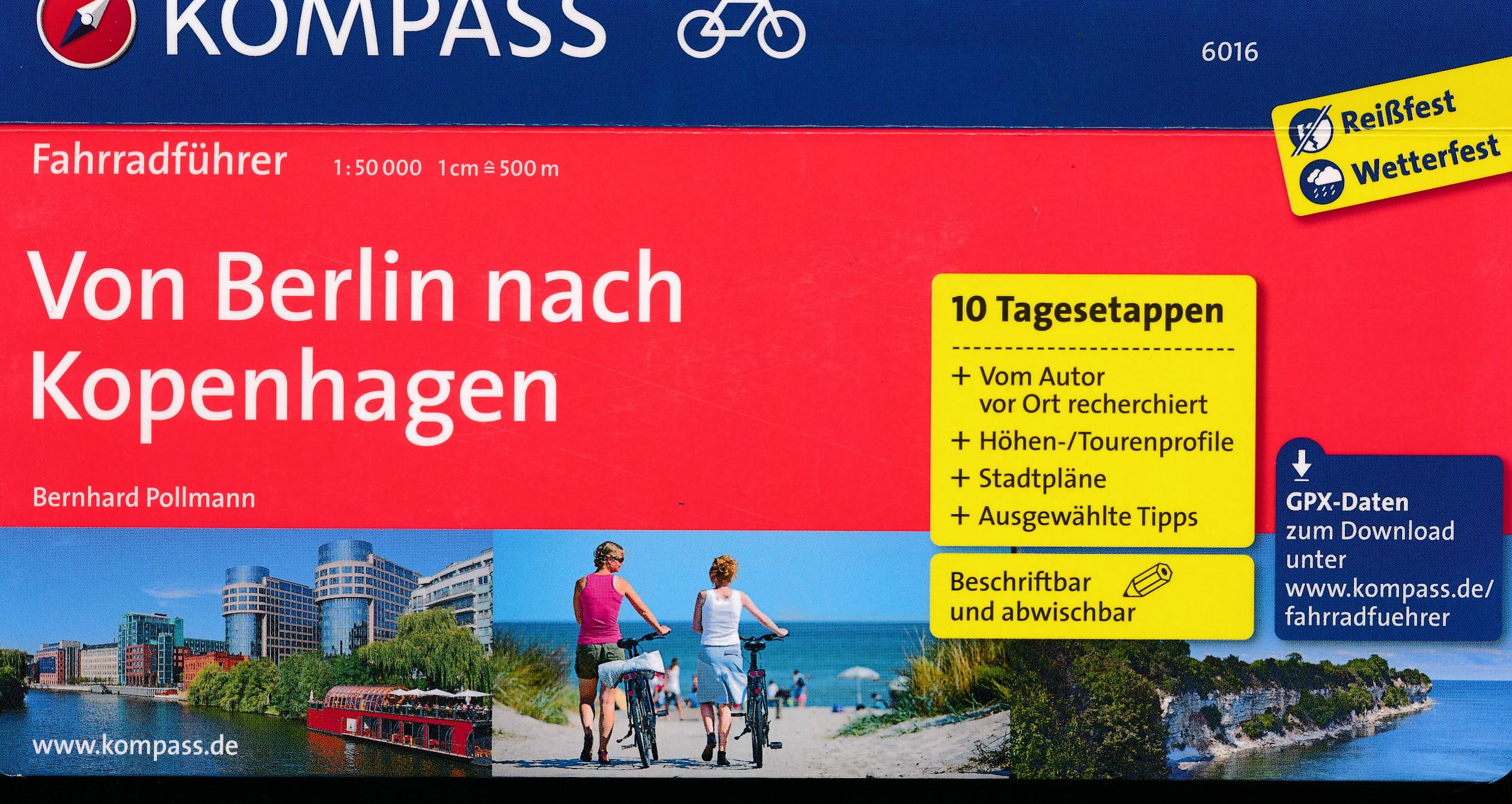 Fietsgids Von Berlin nach Kopenhagen | Kompass