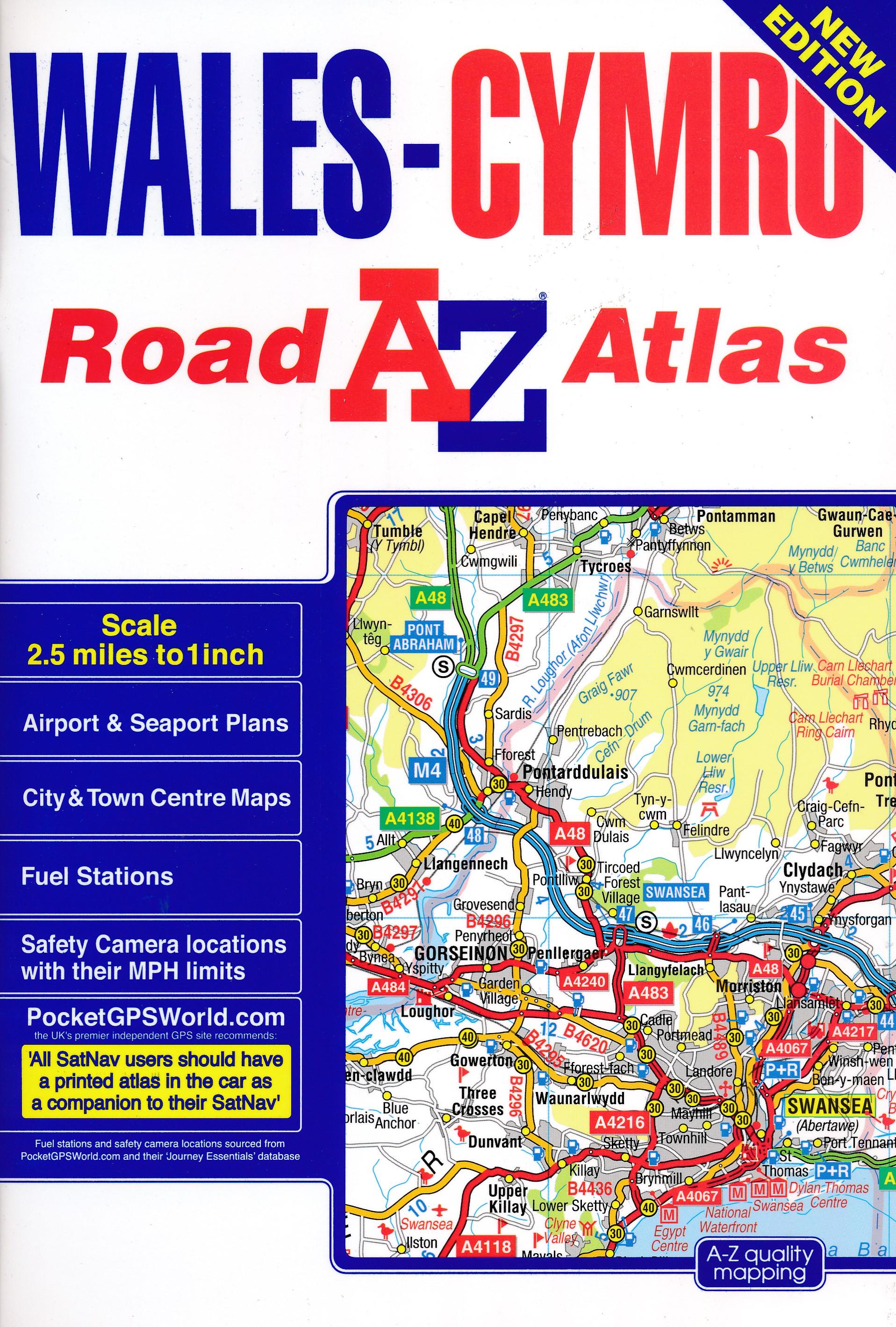 Wegenatlas Wales road atlas | A-Z
