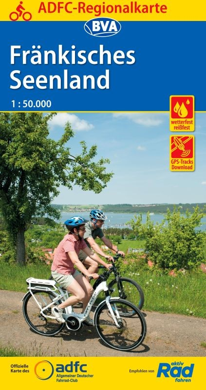 Fietskaart ADFC Regionalkarte Fränkisches Seenland | BVA