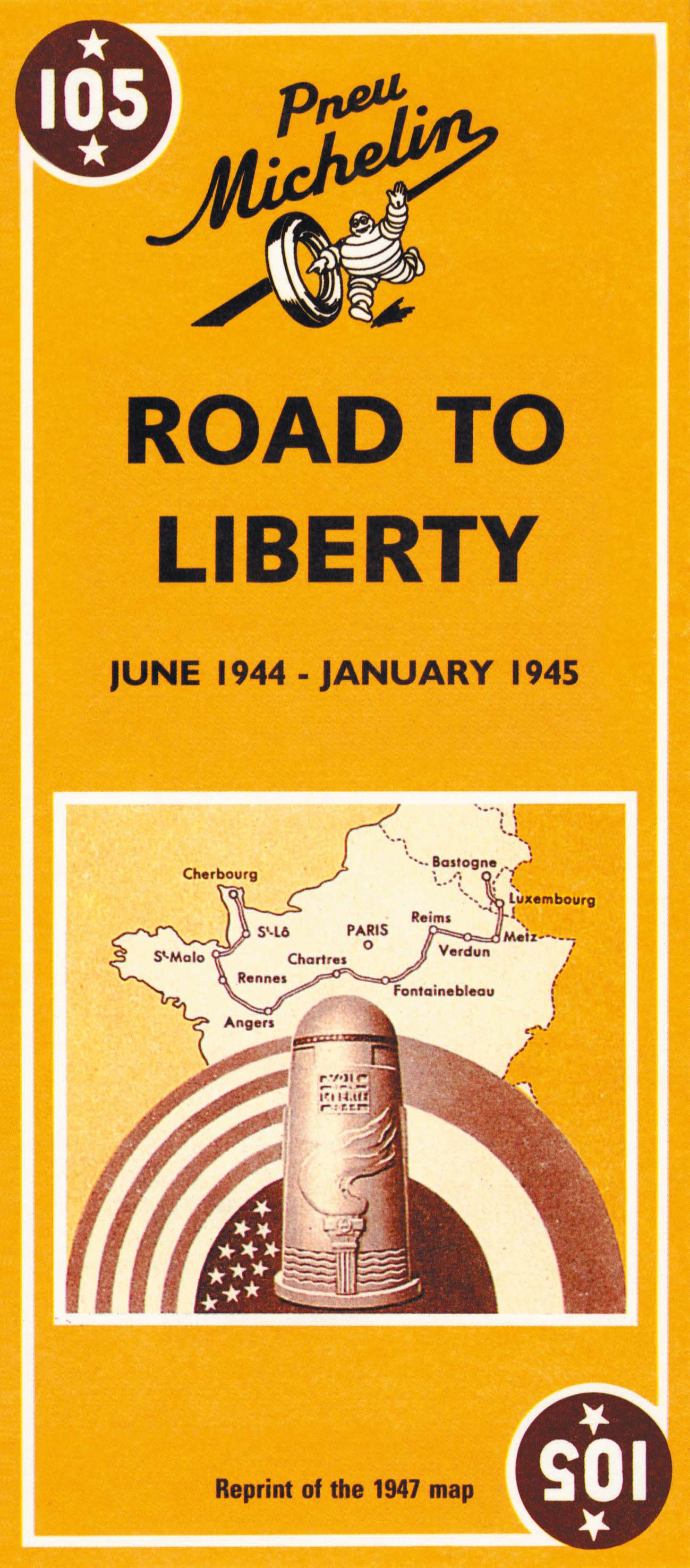 Historische Kaart 105 Road to Liberty | Michelin