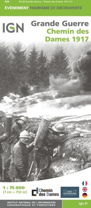 Historische Kaart Grande Guerre - Chemin des Dames 1917 | IGN