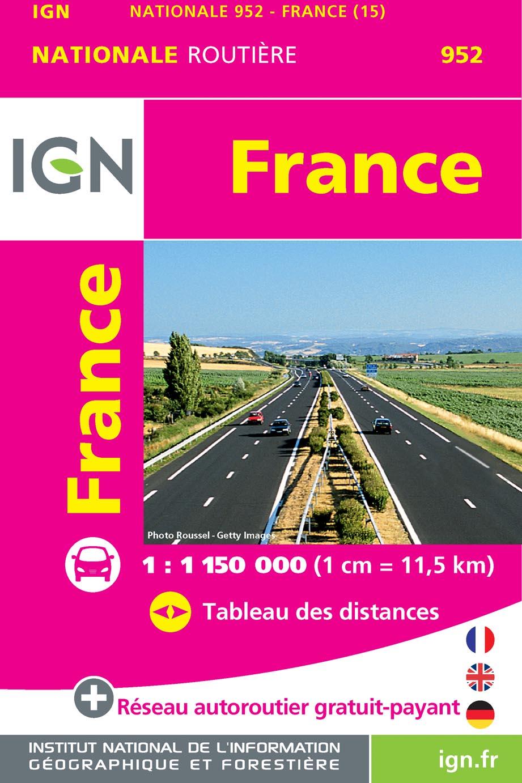 Wegenkaart - landkaart pocket France - Frankrijk | IGN