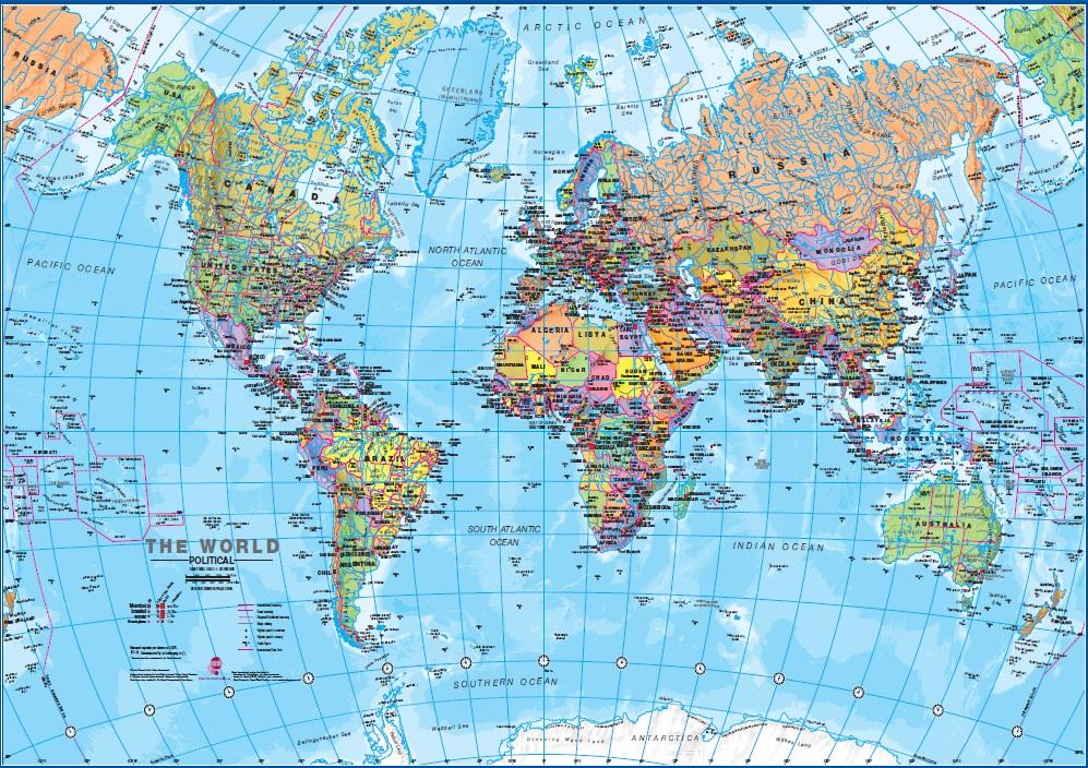 Puzzel wereldkaart (1000 stukjes) cover