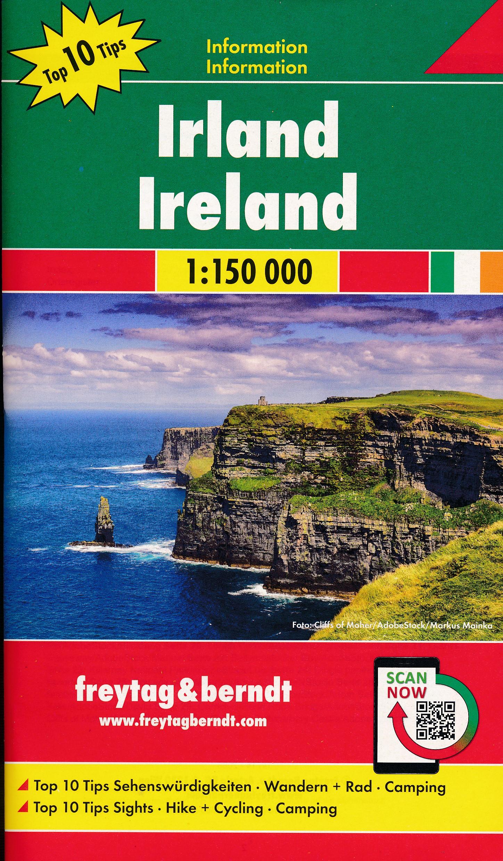 Wegenkaart - landkaart Ierland | Freytag & Berndt de zwerver