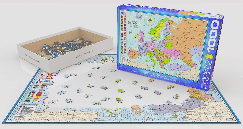 Puzzel Europa (1000 stukjes) cover