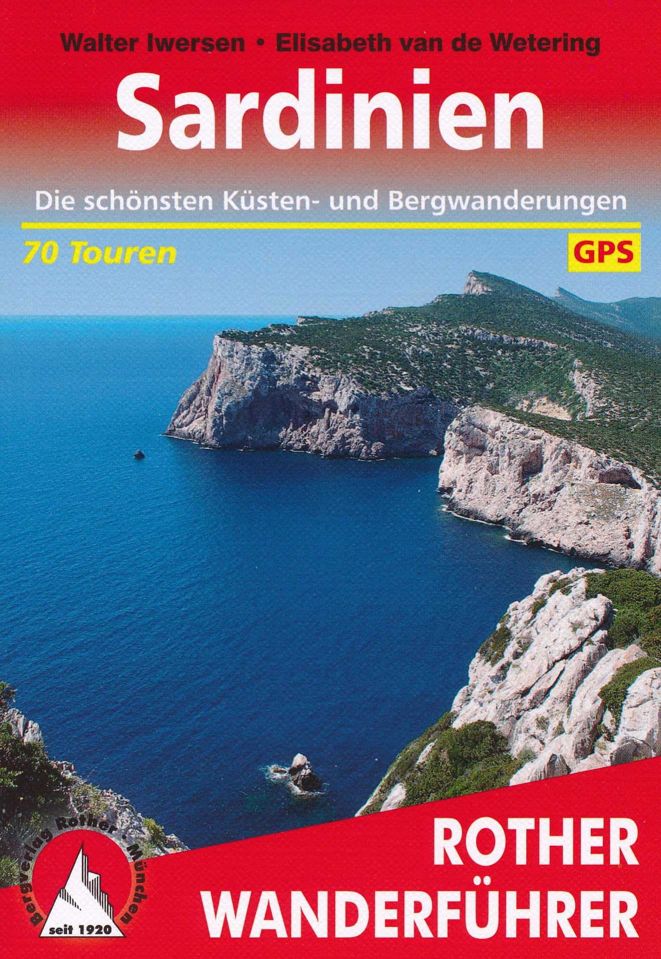 Opruiming - Wandelgids 310 Sardinien - Sardinië   Rother Bergverlag de zwerver