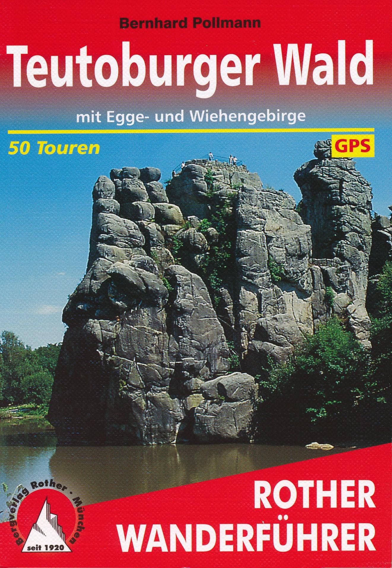 Opruiming - Wandelgids Teutoburger Wald - Teutoburgerwoud   Rother Bergverlag de zwerver