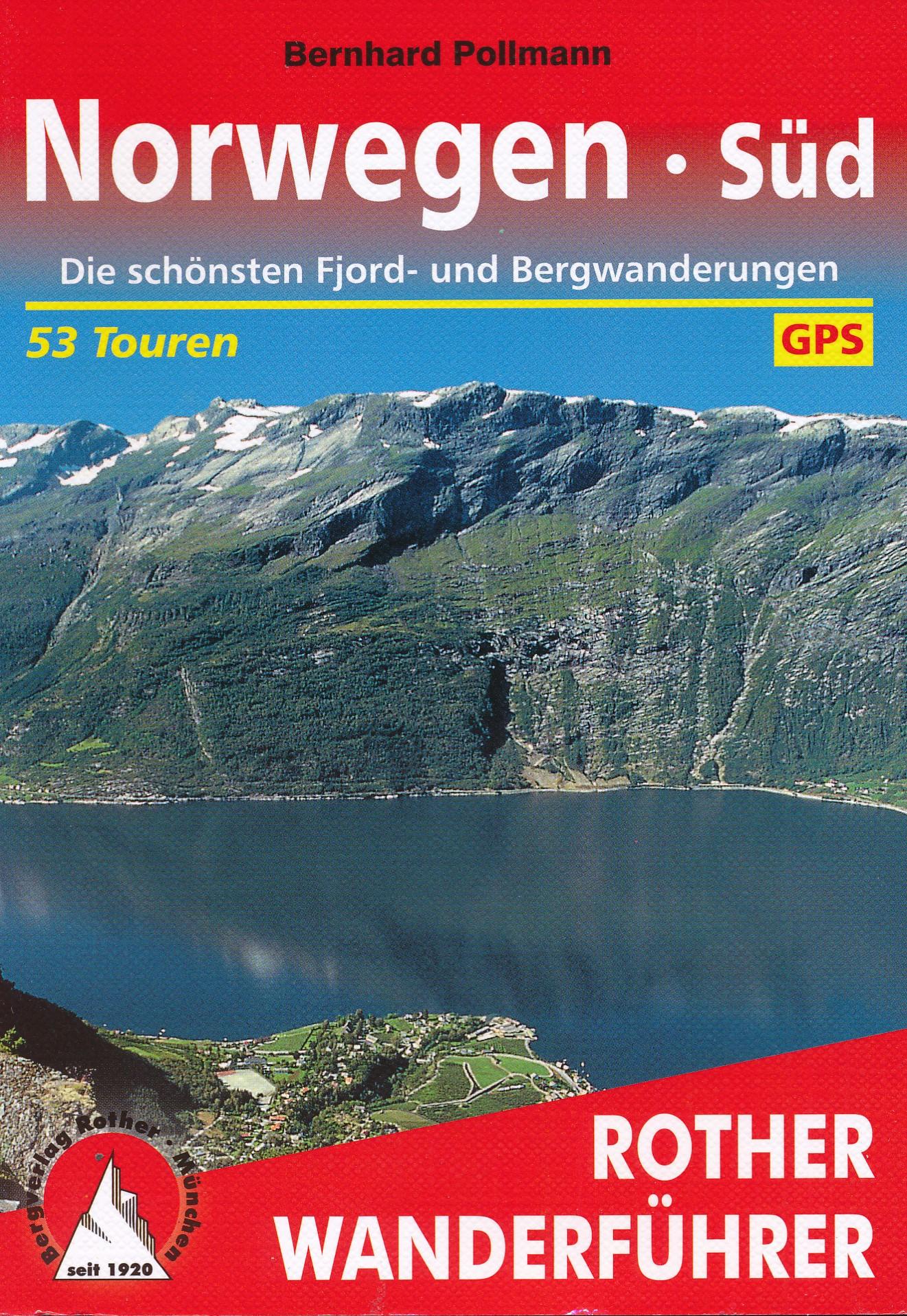 Opruiming - Wandelgids Norwegen Süd - Noorwegen zuid   Rother Bergverlag de zwerver