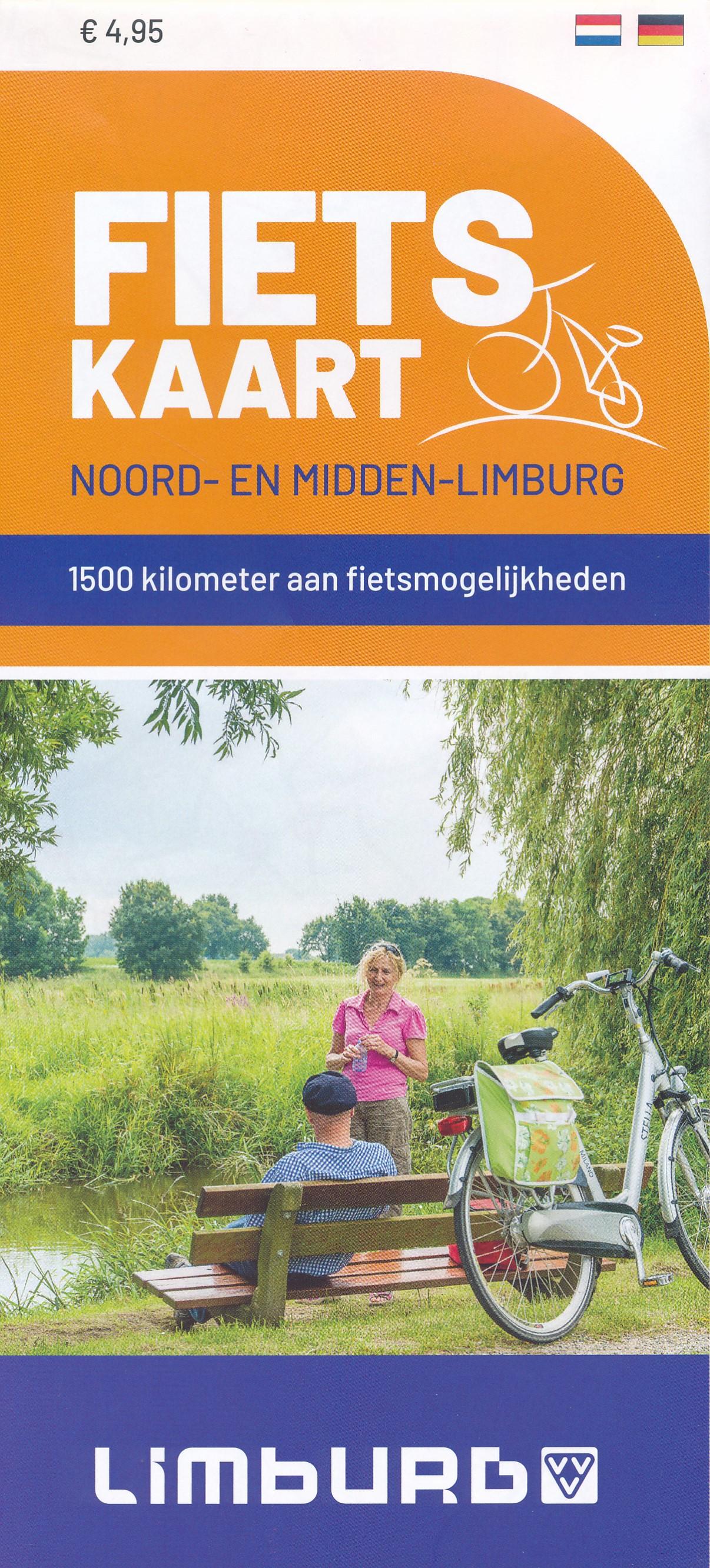 Fietskaart Noord en Midden Limburg met knooppunten | Limburg Marketing de zwerver
