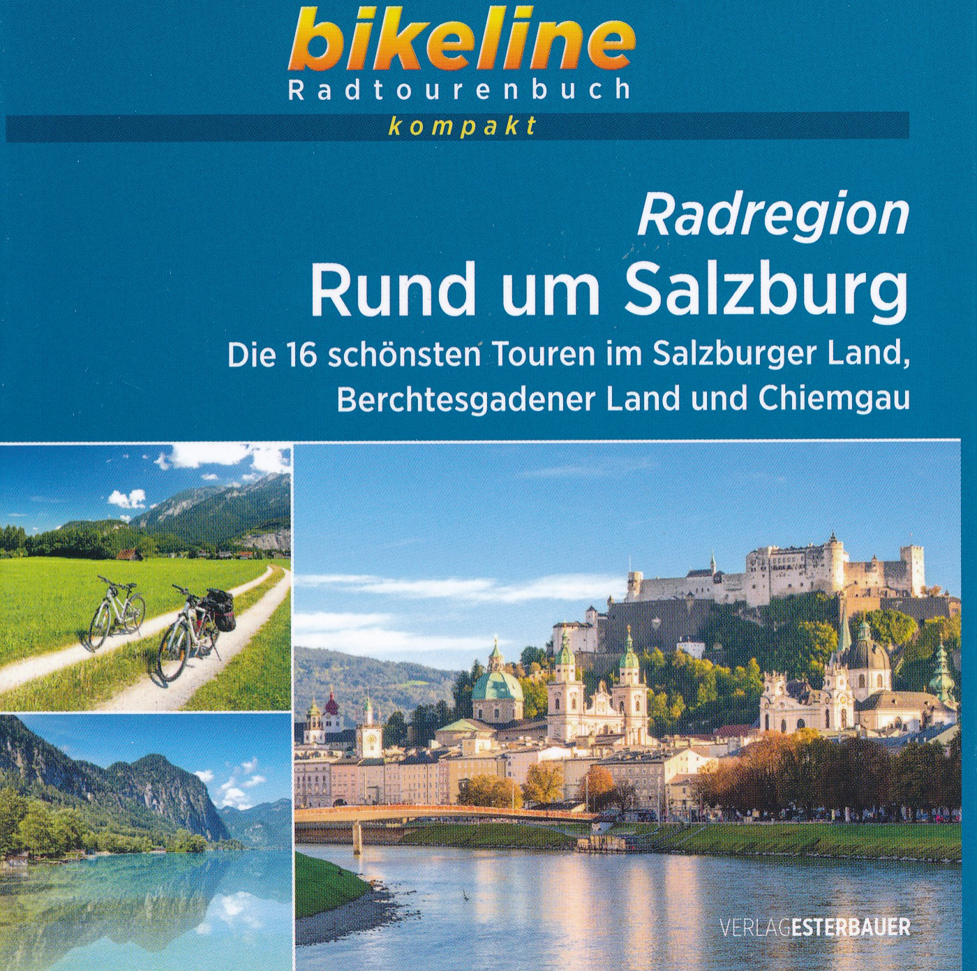 Fietsgids Bikeline Radtourenbuch kompakt Rund um Salzburg | Esterbauer de zwerver