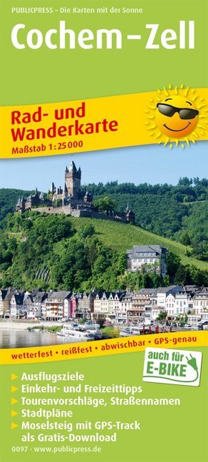 Wandelkaart 0097 Cochem - Zell | Publicpress de zwerver
