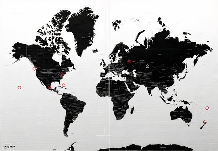 Wereldkaart Magic Map for Magic Walls 100 x 70 cm | Palomar de zwerver