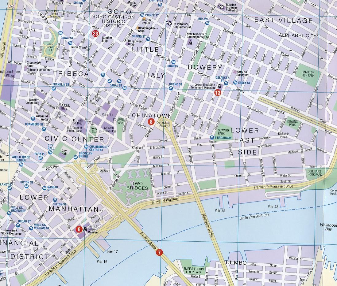 New York City Manhattan Printable Tourist Map Sygic Travel - New york map for tourists