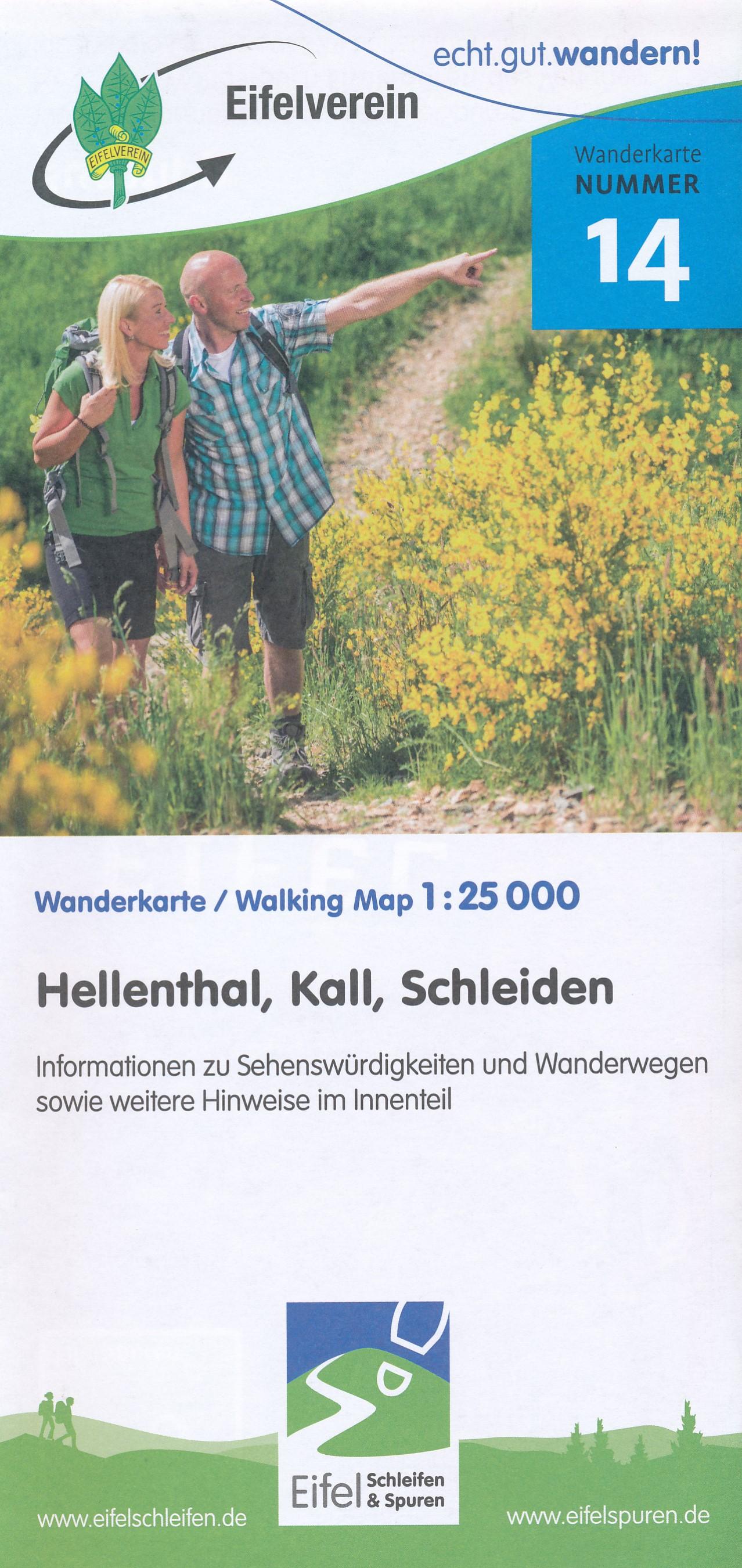 Wandelkaart 14 Hellenthal - Kall - Schleiden - Eifel | Eifelverein de zwerver