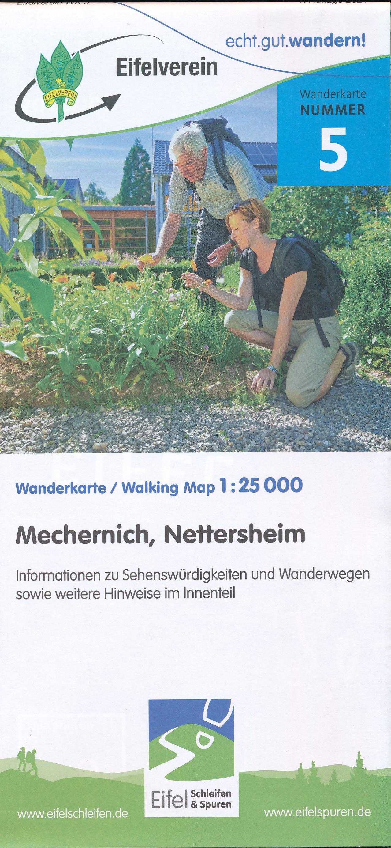 Wandelkaart 05 Nettersheim - Mechernich - Eifel | Eifelverein de zwerver