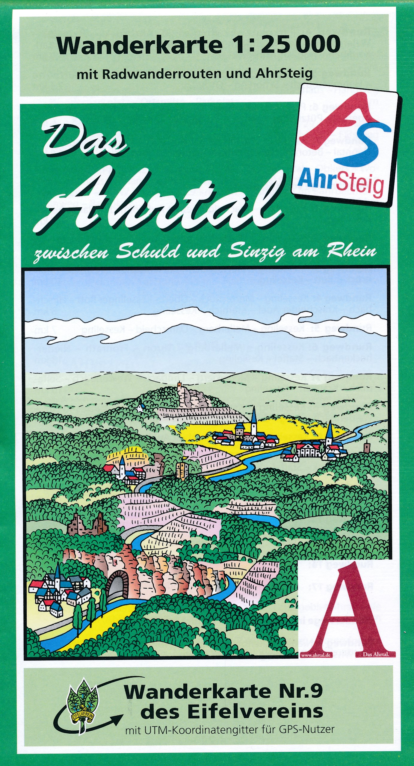 Wandelkaart 09 Ahrtal - Eifel | Eifelverein