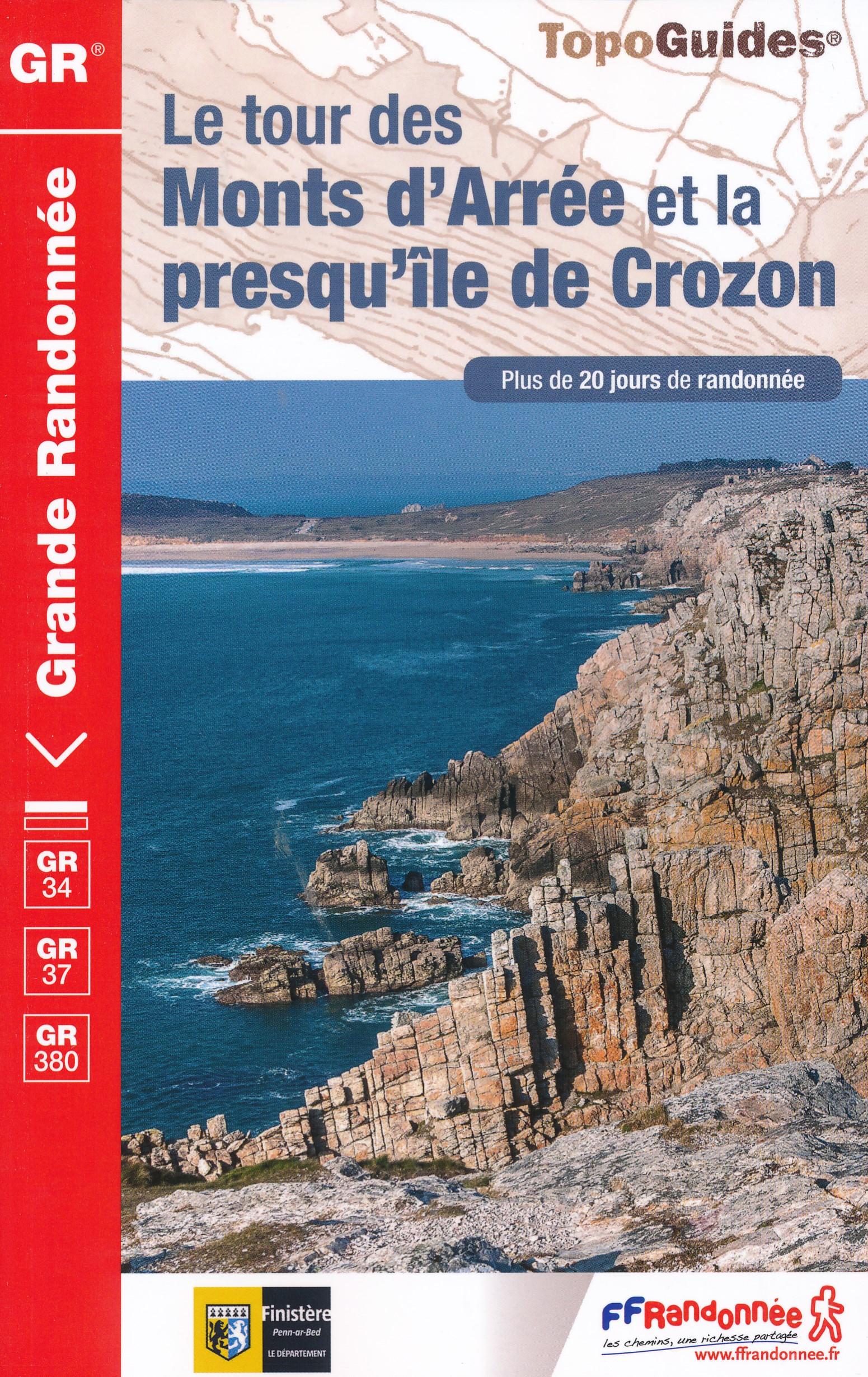 Wandelgids 380 Bretagne GR 34-37 Le tour des Monts d Arree et la presque ile de Crozon | FFRP de zwerver