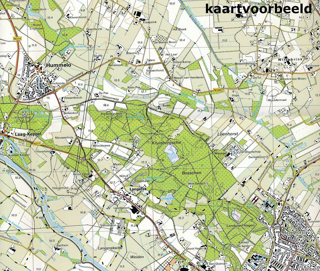 Topografische Kaart Wandelkaart 33b Apeldoorn Veluwe