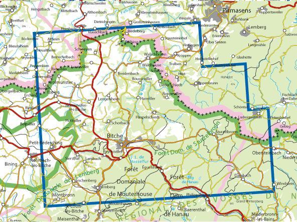 Wandelkaart Topografische Kaart 3713et Pays De Bitche Ign