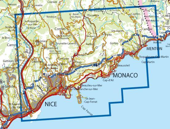 Wandelkaart Topografische Kaart 3742ot Nice Menton Ign