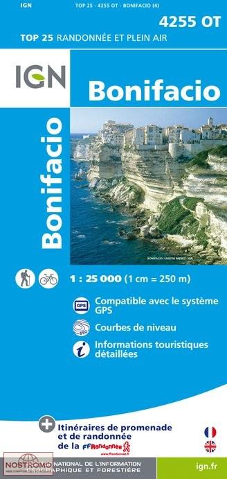 Wandelkaart - Topografische kaart 4255OT Bonifacio | IGN
