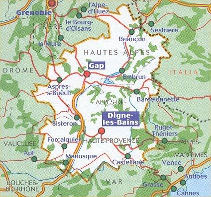 Wegenkaart Landkaart 334 Alpes De Haute Provence Hautes Alpes