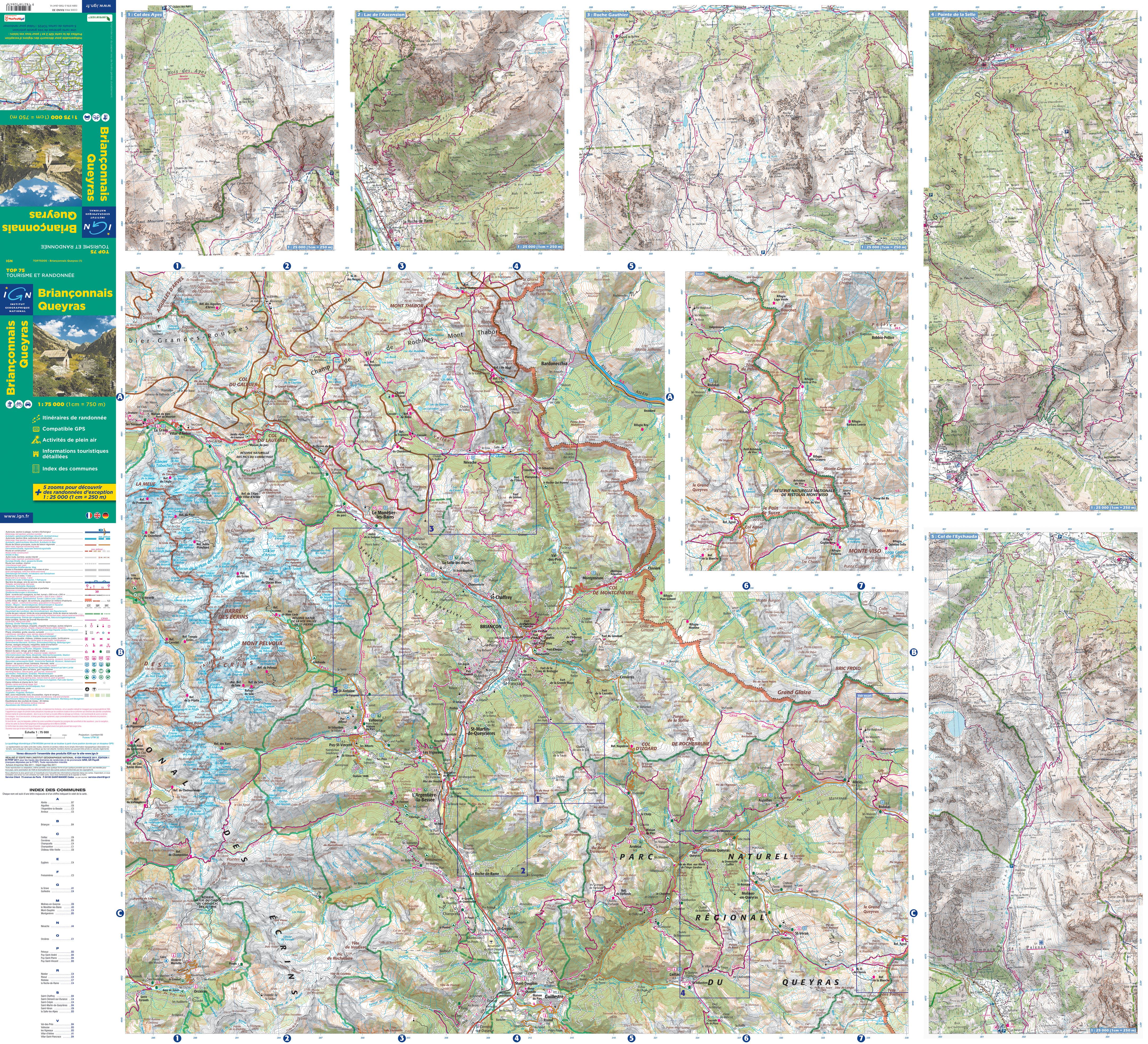 Fietskaart Wandelkaart 01 Top75 Massif Du Vercors Ign 9782758532651 Reisboekwinkel De