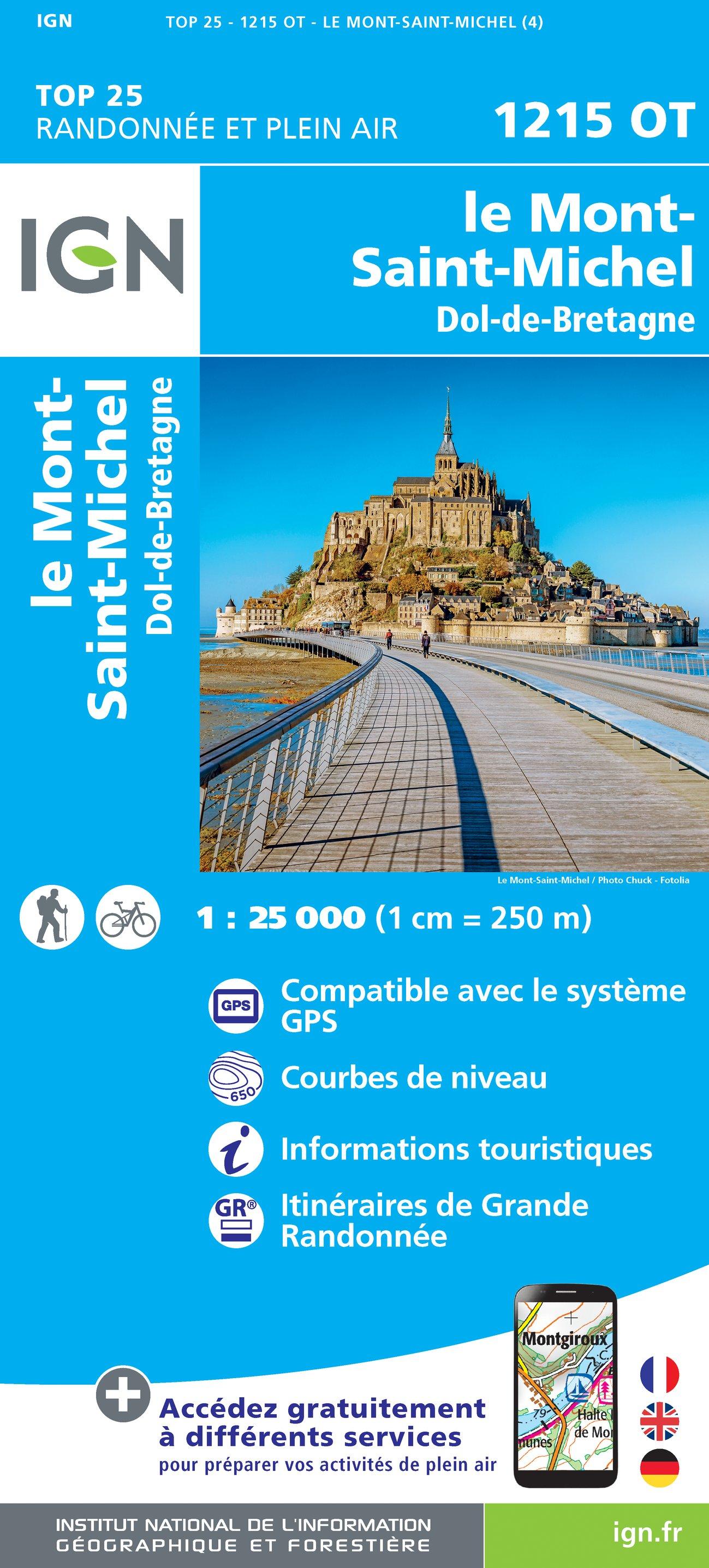 Wandelkaart - Topografische kaart 1215OT Le Mont St.-Michel, Dol-de-Bretagne | IGN
