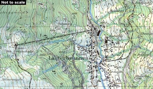 Wandelkaart Topografische Kaart 1289 Brig Swisstopo