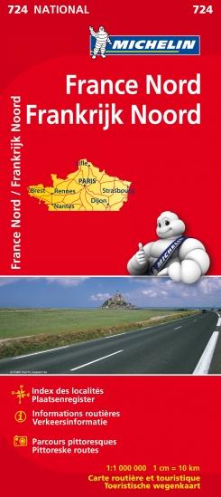 Wegenkaart Landkaart 724 Frankrijk Noord 2015 Michelin aanbieding