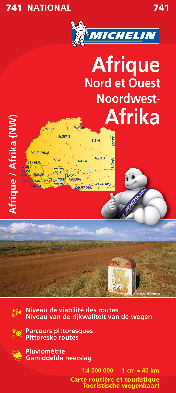 Online bestellen: Wegenkaart - landkaart 741 Noordwest - Afrika   Michelin