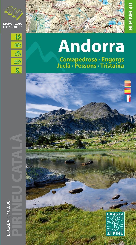 Online bestellen: Wandelkaart Andorra | Editorial Alpina