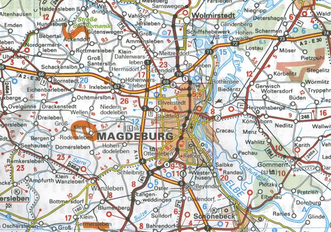 Wegenkaart - landkaart 542 Mecklenburg-Vorpommern, Sachsen-Anhalt ...