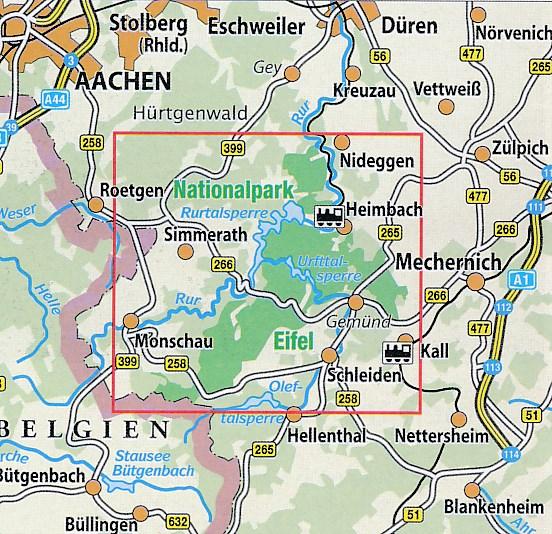 Nationalpark Eifel Karte.Wandelkaart 50 Nationalpark Karte Eifel Eifelverein