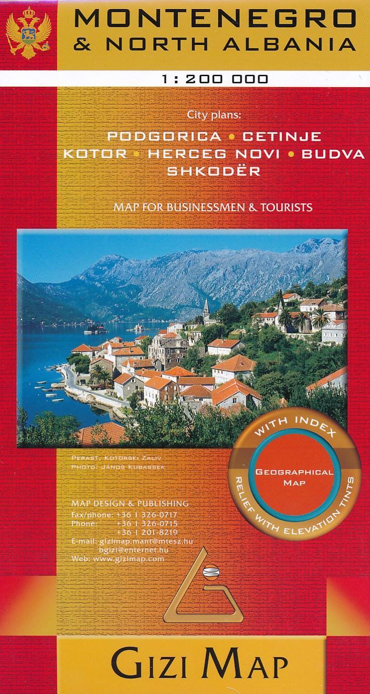 Online bestellen: Wegenkaart - landkaart Montenegro   Gizi Map