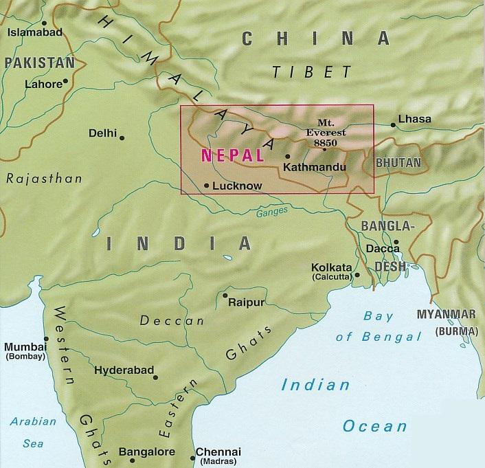 Wegenkaart Landkaart Nepal Nelles Verlag 9783865744821