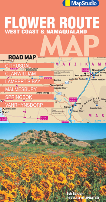 Wegenkaart - landkaart 06 Flower Route, West Coast & Namaqualand Road Map | MapStudio