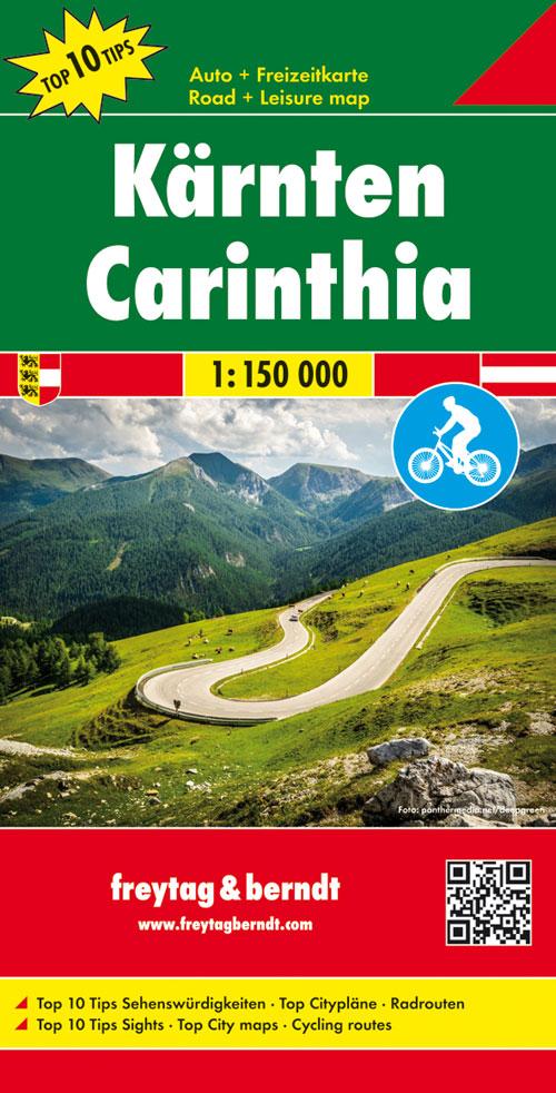 Wegenkaart - landkaart Kärnten - Karinthië | Freytag & Berndt