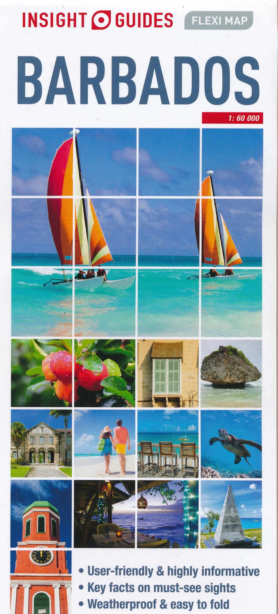 Online bestellen: Wegenkaart - landkaart Fleximap Barbados | Insight Guides