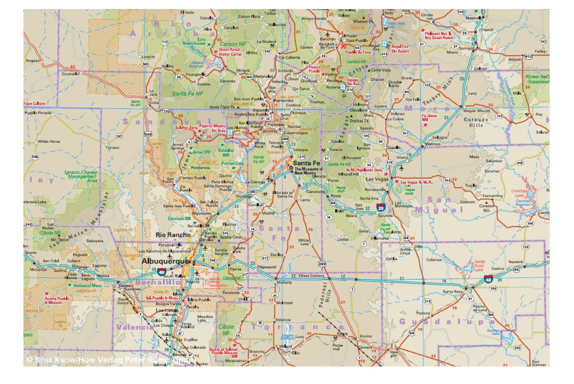 Wegenkaart Landkaart 07 Usa Sudwest Usa Zuid West Reise Know