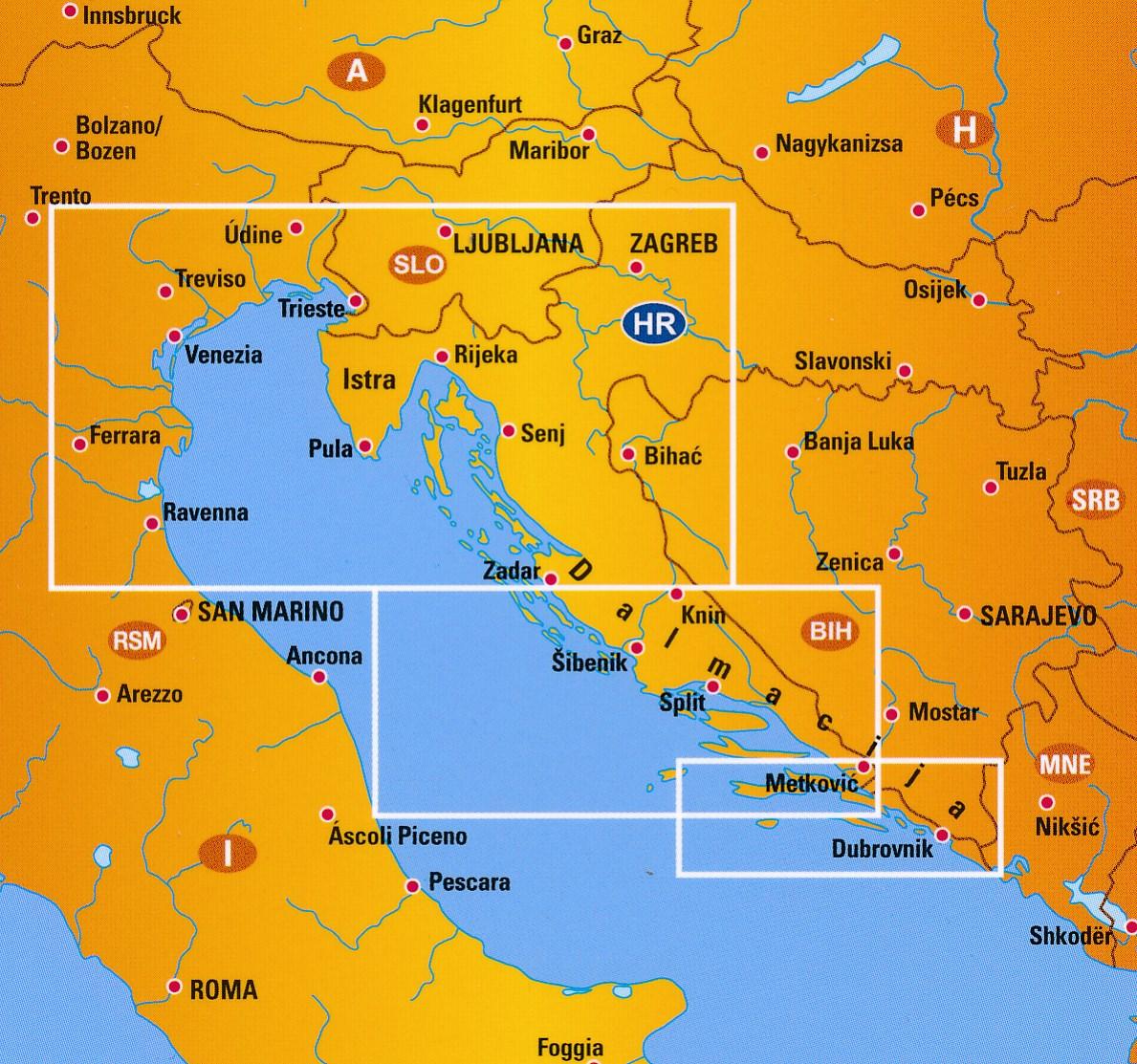 Wegenkaart Landkaart 5 Kroatie Istrie Dalmatie Anwb Media
