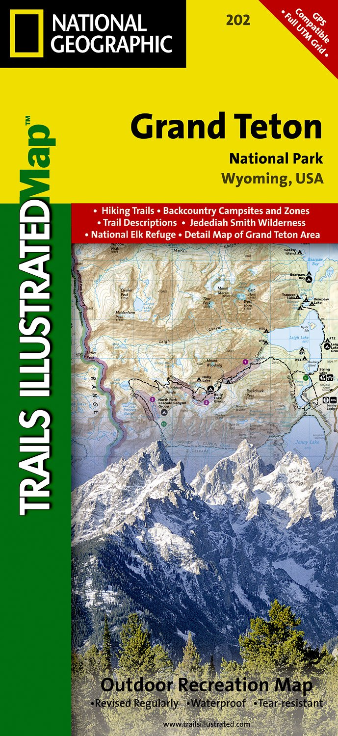 Wandelkaart 202 Trails Illustrated Grand Teton National Park | National Geographic