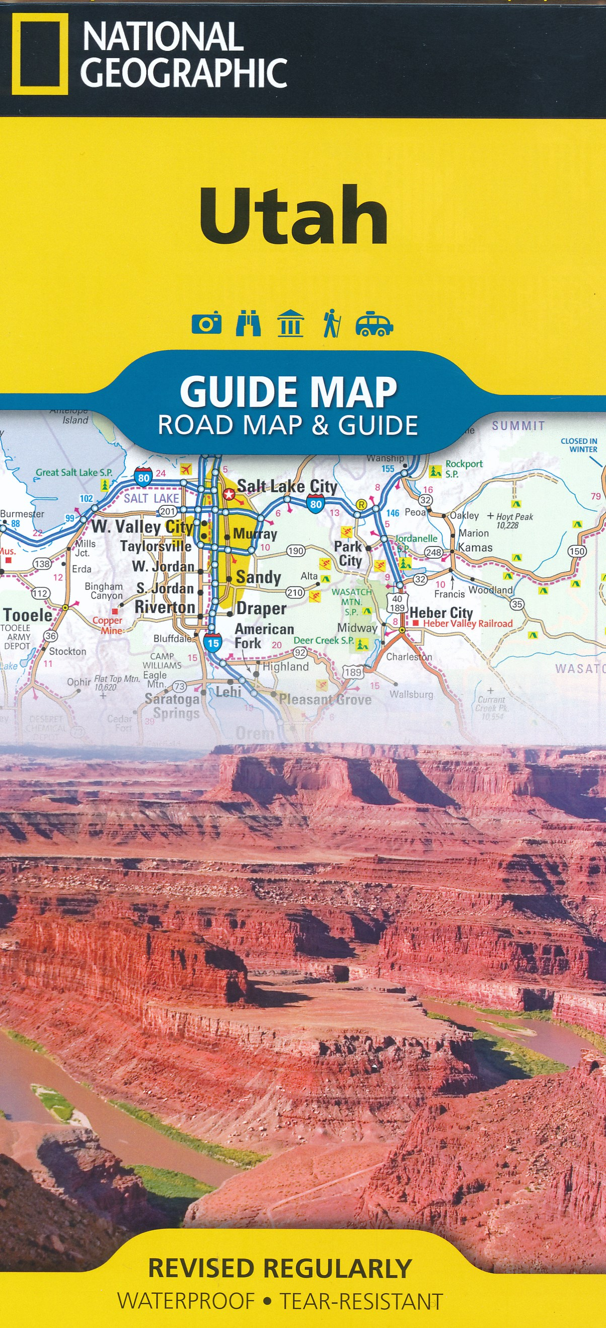 Wegenkaart - landkaart Guide Map Utah | National Geographic