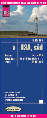Wegenkaart - landkaart 08 USA Zuid: Texas, Oklahoma, Kansas | Reise Know-How Verlag