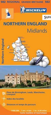 Wegenkaart - landkaart 502 Northern England - Noord Engeland - Midlands | Michelin
