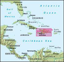 Wegenkaart Landkaart Dominicaanse Republiek Haiti Nelles 9783865742209 Reisboekwinkel