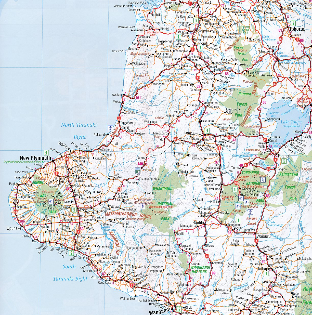 new zealand north island road map pdf