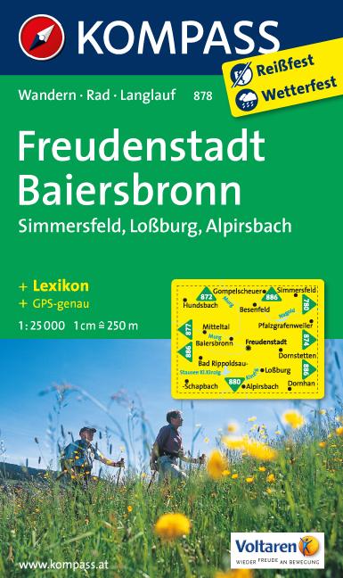 Wandelkaart 878 Freudenstadt - Baiersbronn | Kompass